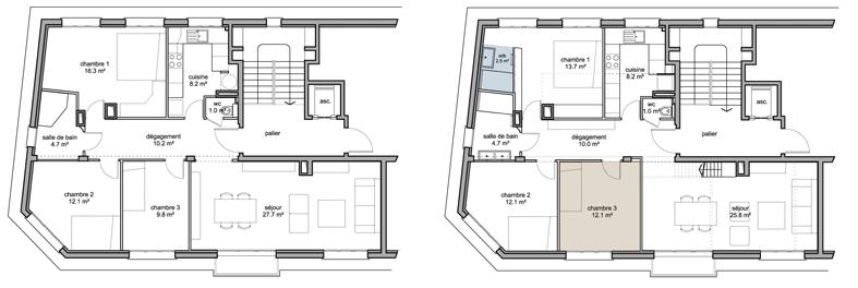 Des combles et une terrasse for Plan de combles