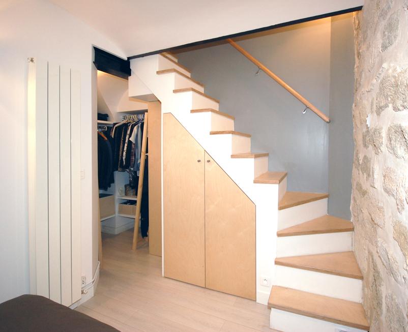 Un 50 m² agrandi en souplex de 60 m²