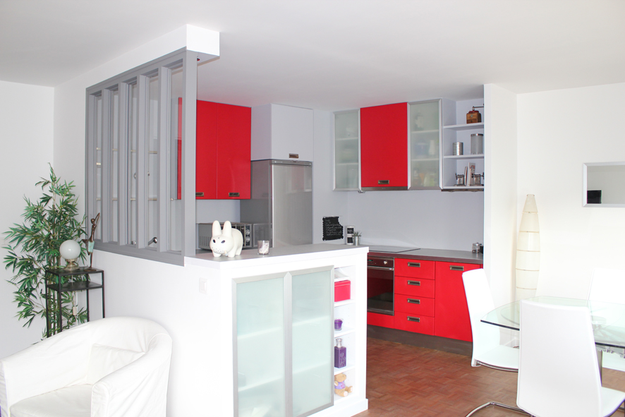 D placement d 39 une cuisine for Separation de cuisine sejour
