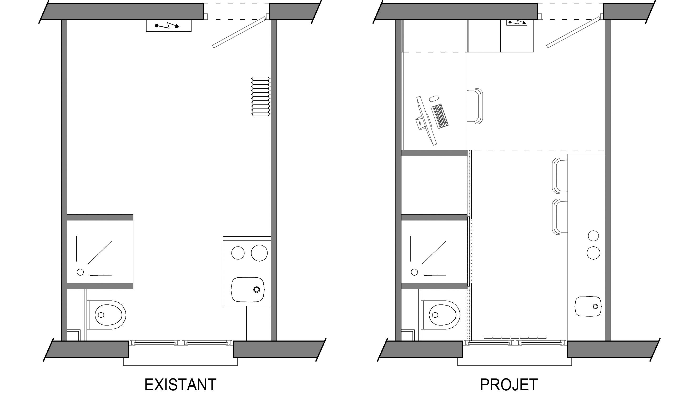 Une chambre de service de 10 m²