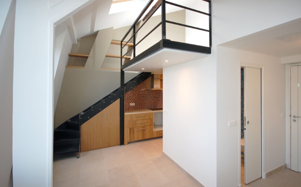Studio d 39 archi r novation d 39 appartements paris - Faire une mezzanine dans les combles ...