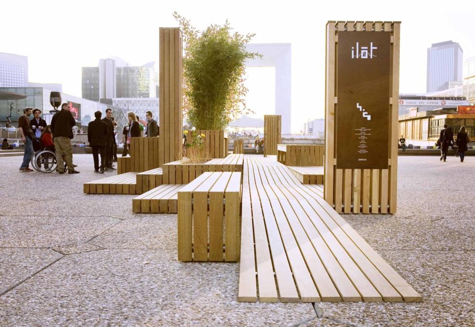 mobilier urbain en bois. Black Bedroom Furniture Sets. Home Design Ideas