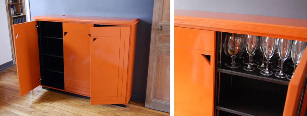 r alisation d 39 un meuble style art d co. Black Bedroom Furniture Sets. Home Design Ideas