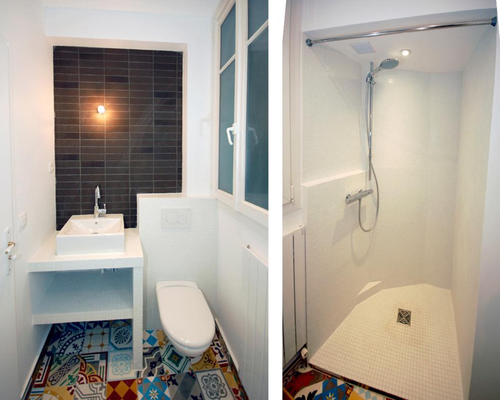 Cuisine et salle d 39 eau r organis es for Salle de bain salle d eau