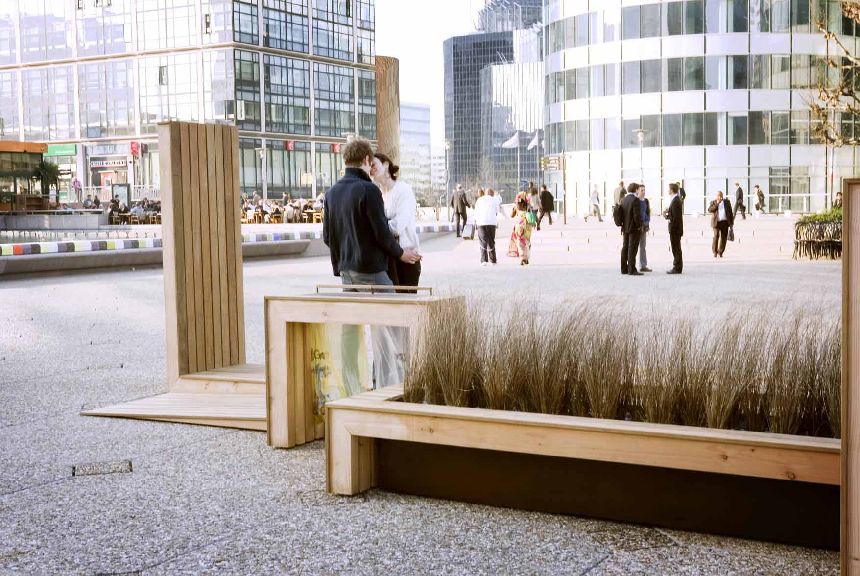 Mobilier urbain en bois