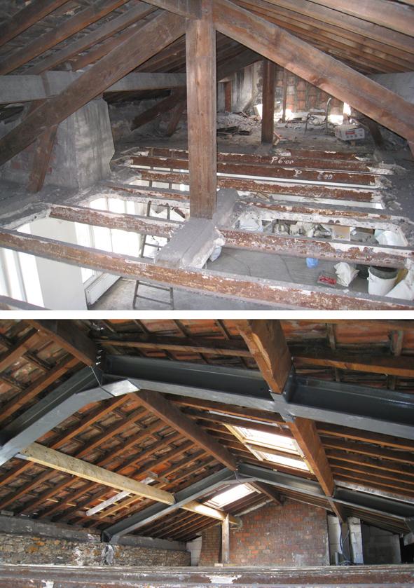 Amenagement combles maison ancienne amenagement combles for Changement de pente de toiture