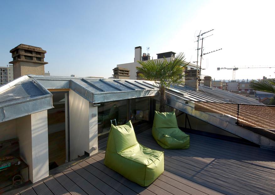 Des combles et une terrasse