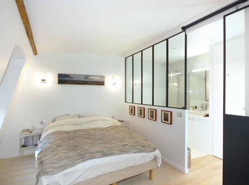 Awesome Salle De Bain Verriere Chambre Photos - Amazing House Design ...