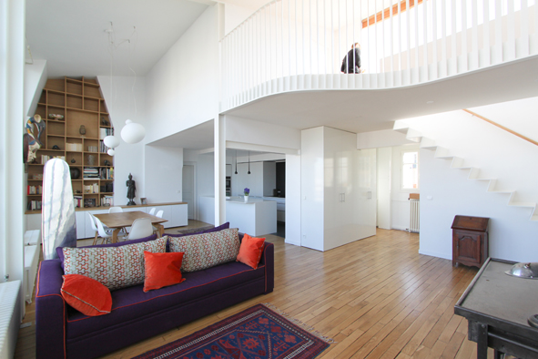 Double hauteur et mezzanine for Gain de place appartement